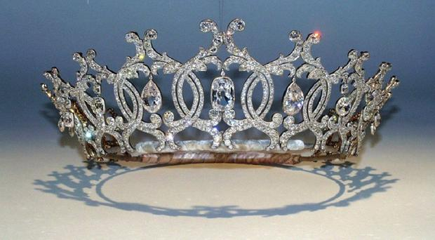 The Portland Tiara was stolen from the Welbeck Estate last November (Nottinghamshire Police/PA)