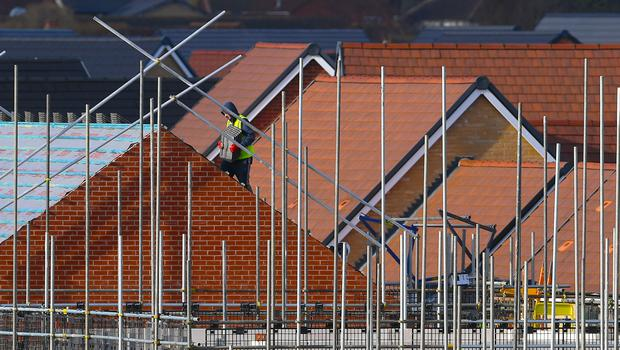 House-building recorded strong growth in April (Joe Giddens/PA)