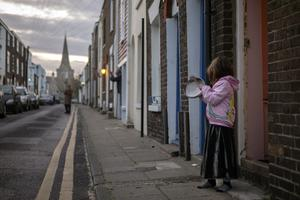 Banging pots for the NHS by Danny Burrows from Deal, Kent (Danny Burrows/Historic England/PA)