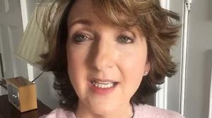 An image from the Dear Cancer Love Victoria Facebook page of Victoria Derbyshire after she removed her wig to show her hair growing back following the end of her chemotherapy treatment for breast cancer