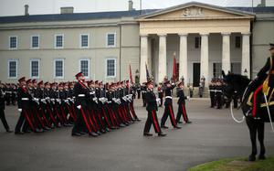 A passing out parade at the Royal Military Academy Sandhurst (Steve Parsons/PA Wire)