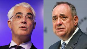 Alistair Darling, left, Alex Salmond will take part in a 90-minute televised debate