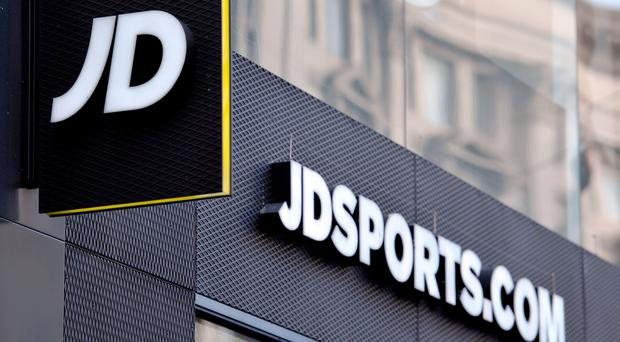 File photo dated 06/01/16 of a shop sign for JD Sports in central London, as JD Sports Fashion has insisted its £90 million takeover of high street rival Footasylum will not be bad for shoppers (Nick Ansell/PA)