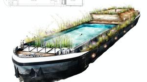A design for what could be London's first floating lido (DesignVis/PA)