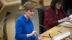 Nicola Sturgeon will make an announcement in Holyrood on Tuesday afternoon (Jane Barlow/PA)
