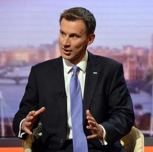 Health Secretary Jeremy Hunt appears on the BBC's Andrew Marr Show (Jeff Overs/BBC/PA)