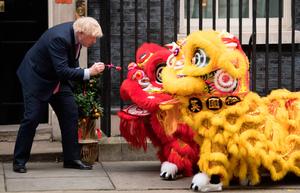 PM Boris Johnson welcomes members of the Chinese community at Downing Street yesterday in celebration of the Chinese New Year