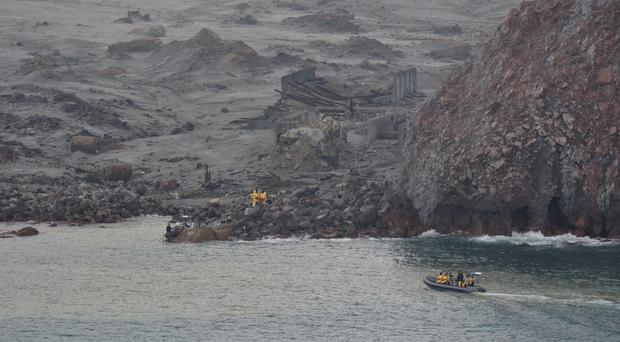 An operation to recover bodies from White Island took place on Friday (New Zealand Defence Force/PA)