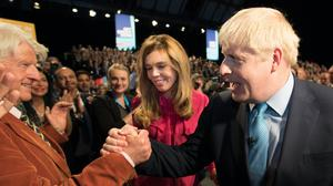 Boris Johnson's father, Stanley, has said his son needs to 'rest up' as he recovers from Covid-19 (Stefan Rousseau/PA)