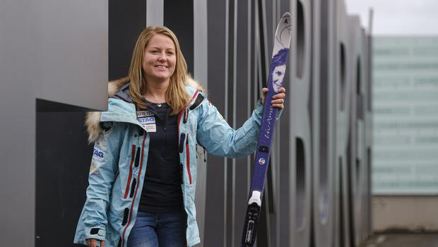 Mollie Hughes, the youngest woman in the world to ski solo from the coast of Antarctica to the South Pole (Mike Wilkinson/PA)