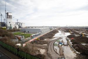 Construction work at Old Oak Common in west London (Aaron Chown/PA)