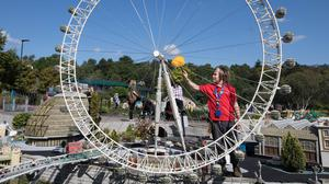 Stanley Bolland, from Hampshire, undertakes some work experience at the Legoland Windsor Resort in Berkshire (David Parry/PA)