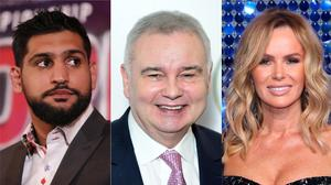 Amir Khan, Eamonn Holmes and Amanda Holden have been criticised for sharing disinformation online during the pandemic. (PA)