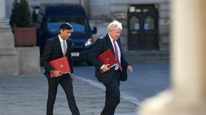 Prime Minister Boris Johnson and Chancellor Rishi Sunak both addressed the newest intake of MPs (Toby Melville/PA)
