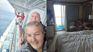 British couples including Justine and Dave Griffin are stranded on the cruise ship (Justine Griffin/PA)