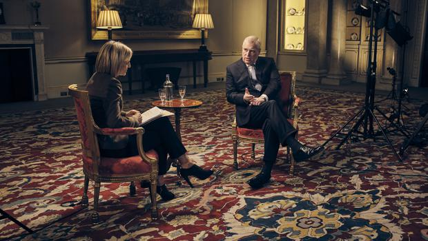 The Duke of York speaking to the BBC's Emily Maitlis (Mark Harrison/BBC/PA)