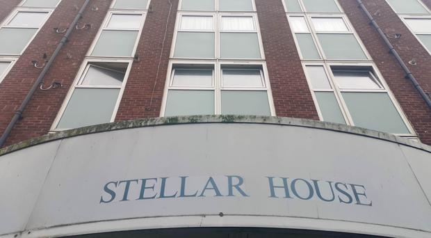 Stellar House in Tottenham, north London where a toddler has died after he fell from a window on the ninth floor (Caitlin Doherty/PA)