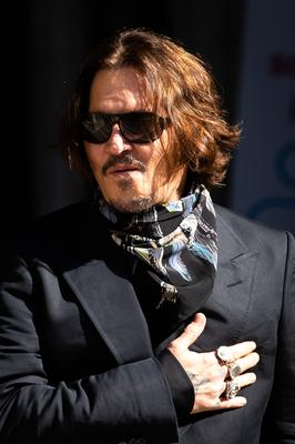 Johnny Depp arriving at the High Court in London (Aaron Chown/PA)