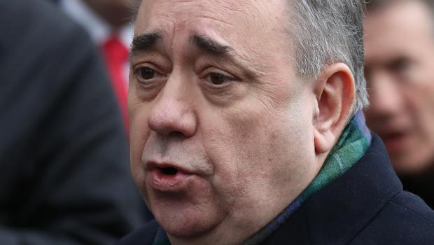 Alex Salmond leaving the High Court in Edinburgh after appearing on a series of sexual assault and attempted rape charges (Andrew Milligan/PA)