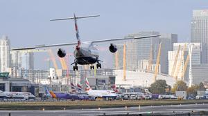 A director at London City Airport has said it hopes to certify the passenger plane A220-300, the wings of which are made in east Belfast by Bombardier, for flights using the airport. (Victoria Jones/PA)