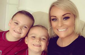 Eight-year-old Charlie with mum Kirsty and brother Freddie (Brain Tumour Research/Handout)