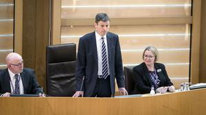 Ken Macintosh pictured after he was elected as Presiding Officer at the Scottish Parliament (Danny Lawson/PA)