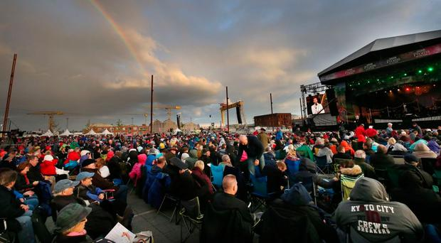 An audience of 11,000 enjoyed the BBC Proms at Titanic Slipways in 2016