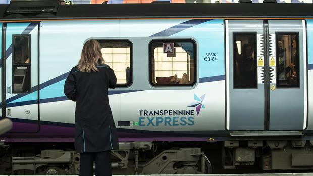 A TransPennine Express train at Leeds railway station (Danny Lawson/PA)