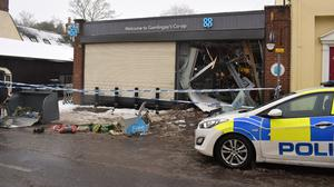 A Co-op store in Gamlingay, Cambridgeshire, which was ram-raided on March 3 (Bedfordshire Police)