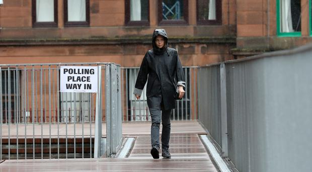 Weather warnings were issued ahead of polling day (Andrew Milligan/PA)