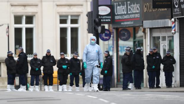 Police activity following the terror attack in Streatham High Road, south London by Sudesh Amman, 20, who was shot dead by armed officers (Aaron Chown/PA)