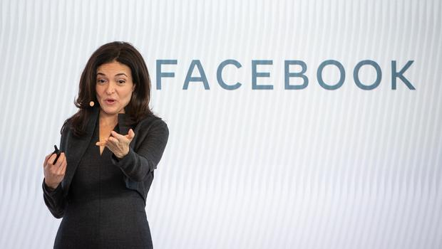 Facebook's chief operating officer Sheryl Sandberg speaks during a press conference in London (Dominic Lipinski/PA)