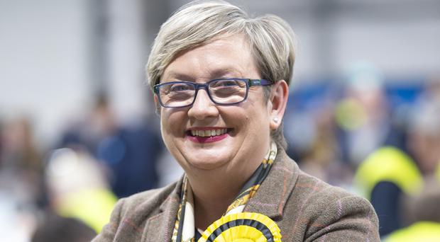 Joanna Cherry described Boris Johnson as a 'huckster' who would sell off the NHS (Lesley Martin/PA)