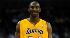 Kobe Bryant during an NBA Europe Live match at the O2 Arena, London (Andrew Matthews/PA)