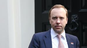 Health and Social Care Secretary Matt Hancock (Jonathan Brady/PA)