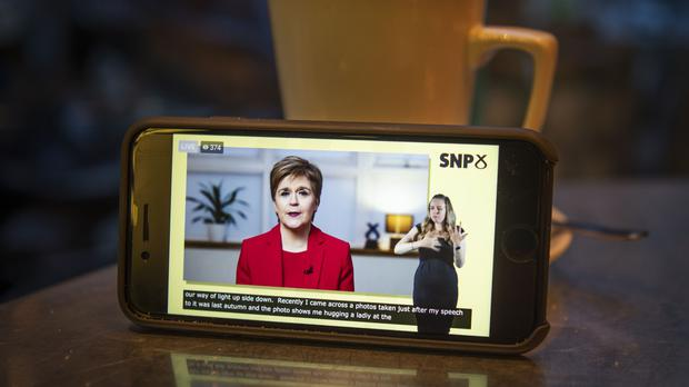 Nicola Sturgeon said she will use next May's Holyrood election to try to win a mandate to hold an independence referendum 'in the early part of the new Parliament' (Jane Barlow/PA)