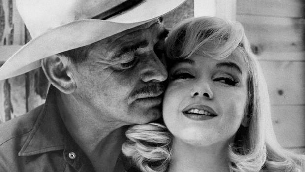 Clark Gable and Marilyn Monroe in a scene from the movie Misfits
