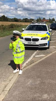 Harry said his favourite part of the day was using the speed gun. (Claire Cannell)
