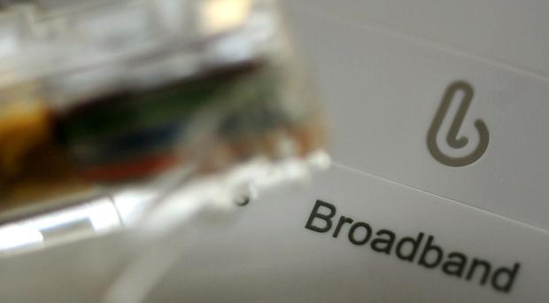 File photo dated 15/01/14 of a broadband cable and router (Rui Vierira/PA)