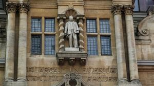 Calls to remove the controversial statue of colonialist Cecil Rhodes from Oriel College, Oxford, have gained renewed attention amid Black Lives Matter protests (Steve Parsons/PA)