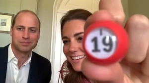 The duchess calls out the number 19 during the bingo session. Kensington Palace