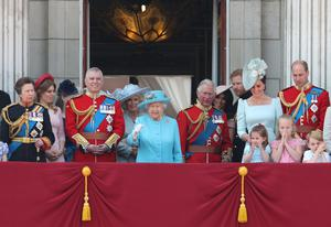 The Sussexes on the balcony with the royal family (Yui Mok/PA)
