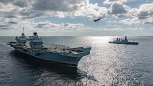 The Queen Elizabeth is sailing for a period of sea training and carrier training around the south coast (LPhot Daniel Shepherd/MoD Crown Copyright)