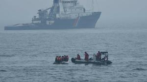 Migrants who were found on a boat off Boulogne-sur-Mer by French authorities (PSP Cormoran / Marine nationale)