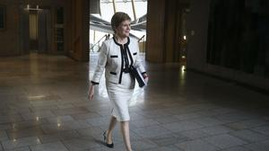 First Minister Nicola Sturgeon revealed plans to tackle coronavirus and climate change (Fraser Bremner/Scottish Daily Mail)