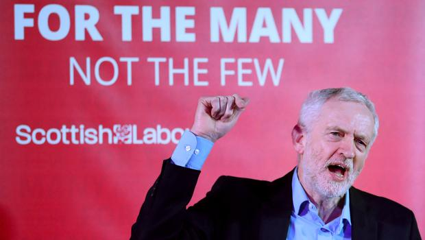 Jeremy Corbyn speaks at a campaign rally on a recent visit to Scotland (Jane Barlow/PA)