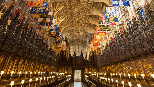 The Quire in St George's Chapel at Windsor Castle, where Prince Harry and Meghan Markle will get married (Dominic Lipinski/PA)