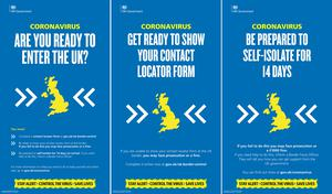 Posters will be displayed at ports and airports in the UK (Home Office/PA)