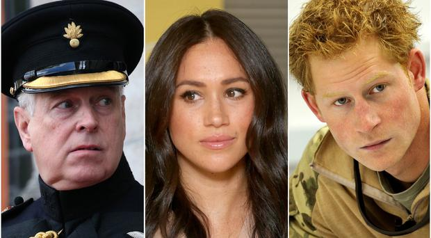 Andrew, Meghan and Harry (PA)