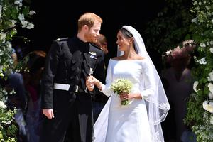 The couple after the wedding (Ben Stansall/PA)